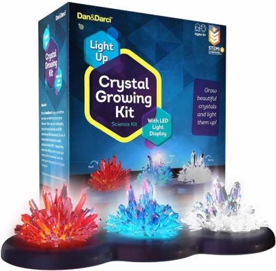 This is an image of Light-up Crystal Growing Kit for Kids - Grow Your Own Crystals and Make Them Glow