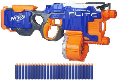 This is an image of Nerf N-Strike Hyperfire Toy Blaster (Amazon Exclusive