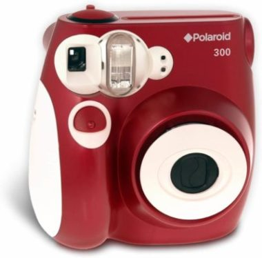 This is an image of Polaroid 300 Instant Camera (Red)