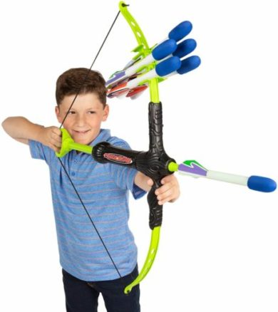 This is an image of Marky Sparky Faux Bow 3 - Shoots Over 100 Feet - Foam Bow & Arrow Archery Set
